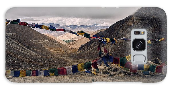 Prayer Flags In The Himalayas Galaxy Case