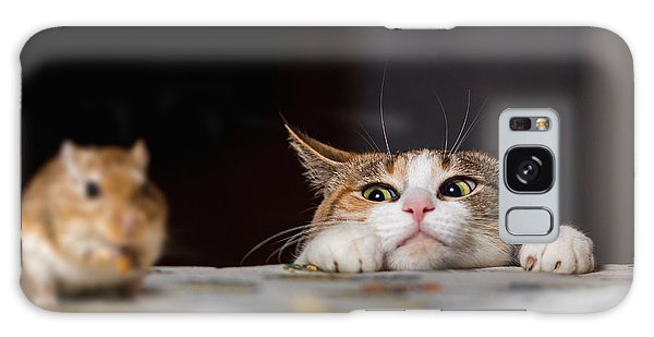 Tabby Galaxy Case - Pretty Ginger Cat Playing With Little by Sergey Zaykov