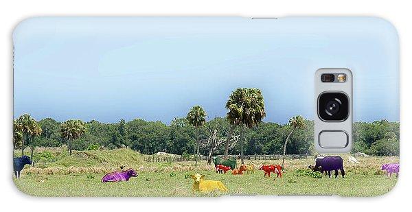 Psychedelic Cows Galaxy Case