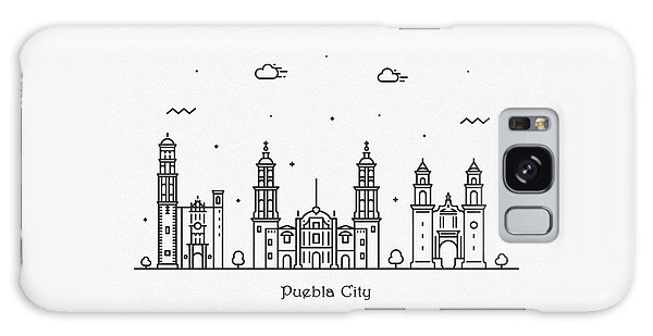 Mexican Galaxy Case - Puebla Cityscape Travel Poster by Inspirowl Design