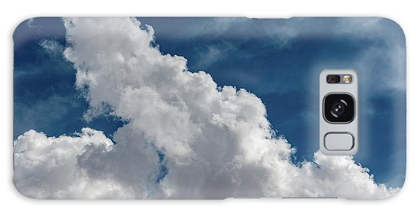Puffy White Clouds Galaxy Case