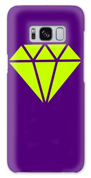 Galaxy Case - Purple Diamond Yellow by Ize Barbosa DIAMOND IS FOREVER