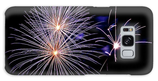 Fireworks Galaxy Case - Purple Fireworks by Delphimages Photo Creations