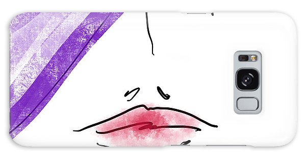 Purple Hat Galaxy Case