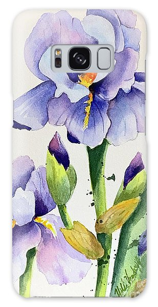Purple Iris And Buds Galaxy Case