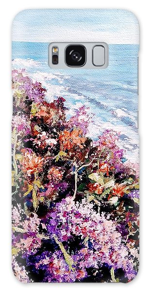 Galaxy Case featuring the painting Purple Landscape by Ray Khalife
