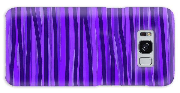 Purple Lines Galaxy Case