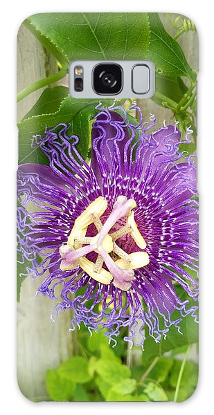 Purple Passionflower Galaxy Case