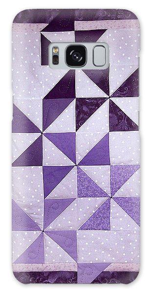 Purple Pinwheels Pirouetting Galaxy Case