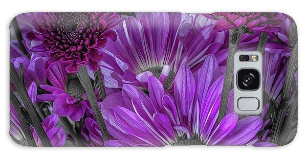Purple Power Chrysanthem Selective Colorum  Galaxy Case