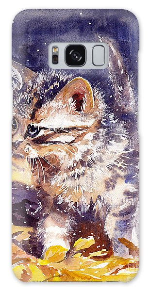 Fairy Galaxy S8 Case - Pussy On A Yellow Blanket by Suzann's Art