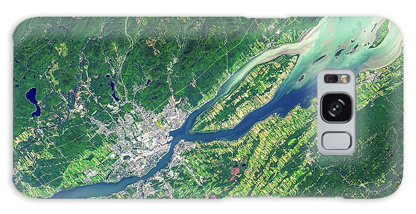 Quebec City Galaxy Case - Quebec City From Space by Delphimages Photo Creations