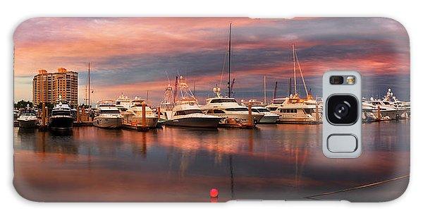 Flagler Galaxy Case - Quiet Evening On The Marina by Debra and Dave Vanderlaan
