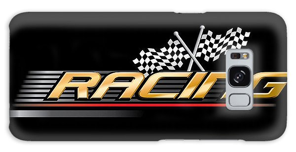 Event Galaxy Case - Racing With Checkered Flags by Vectorvault