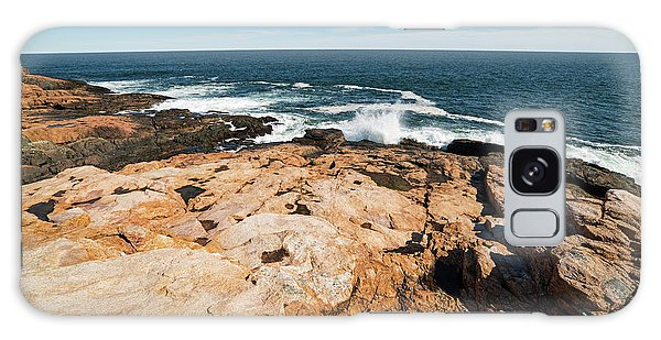Chasm Galaxy Case - Rafe's Chasm Gloucester Ma North Shore Ocean by Toby McGuire