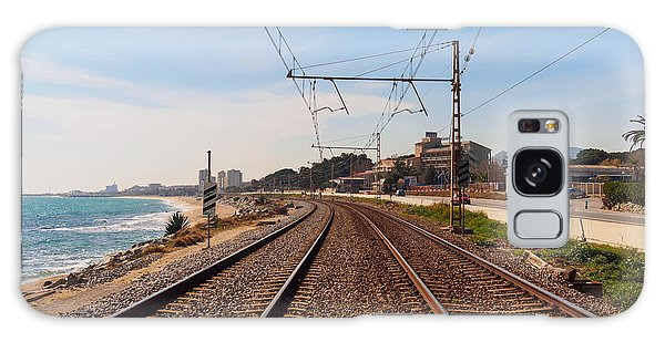 Old Road Galaxy Case - Railway To The Coast Of The by Pere Rubi
