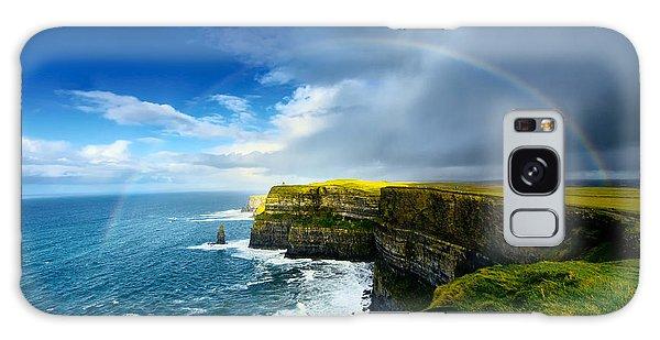 Travel Destinations Galaxy Case - Rainbow Above Cliffs Of Moher. Ireland by Liseykina