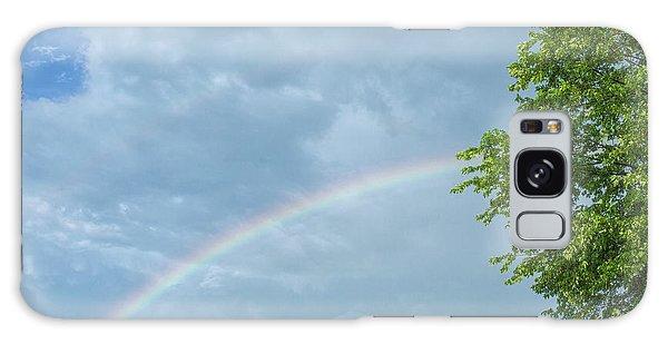 Rainbow And A Tree Galaxy Case