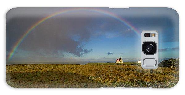 Rainbow At Point Cabrillo Galaxy Case
