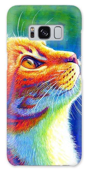 Rainbow Cat Portrait Galaxy Case