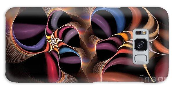 Rainbow Lillies-1 Galaxy Case
