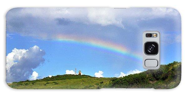 Rainbow Over Buck Island Lighthouse Galaxy Case