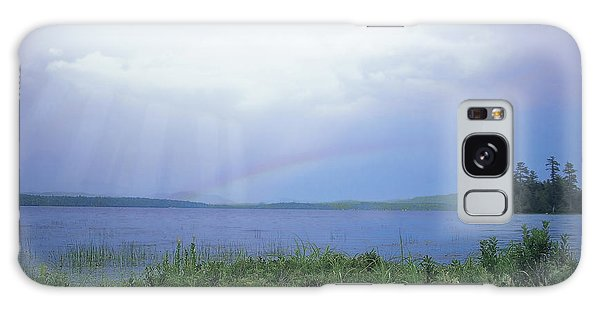 Rainbow Over Raquette Lake Galaxy Case