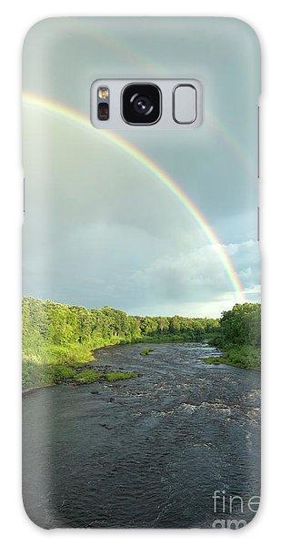 Rainbow Over The Littlefork River Galaxy Case