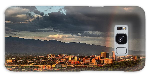 Rainbow Over Tucson Galaxy Case