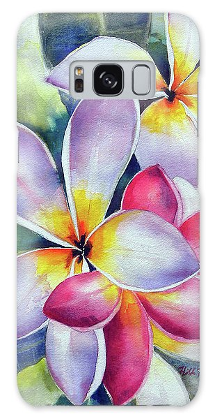Rainbow Plumerias Galaxy Case