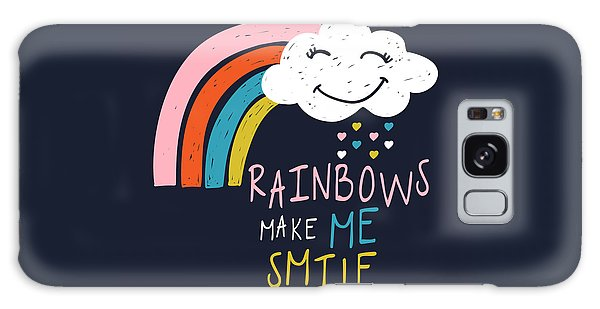Rainbows Make Me Smile - Baby Room Nursery Art Poster Print Galaxy Case