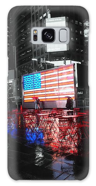 Rainy Days In Time Square  Galaxy Case