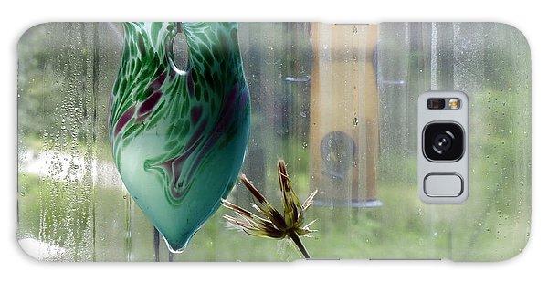 Rainy Morning At The Bird Feeder Galaxy Case