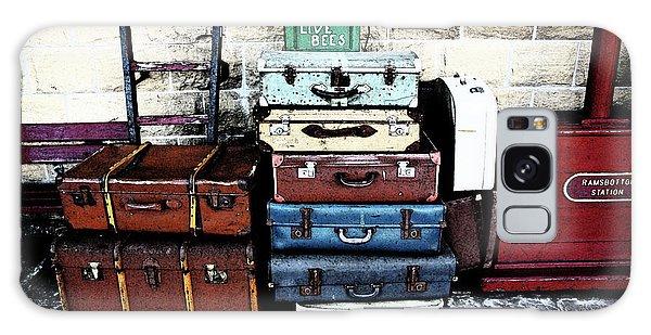 Ramsbottom.  Elr Railway Suitcases On The Platform. Galaxy Case