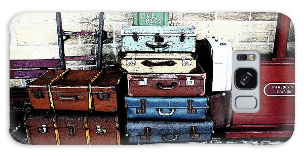Ramsbottom.  Elr Railway Suitcases On The Platform. Galaxy Case