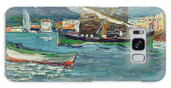 Russian Impressionism Galaxy Case - Rapallo Grey Day - Grauer Tag  by Wassily Kandinsky
