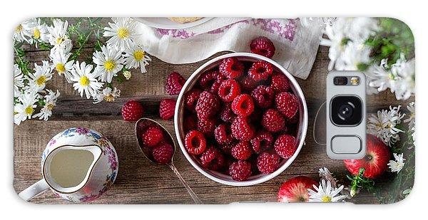 Raspberry Breakfast Galaxy Case