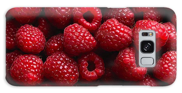Horizontal Galaxy Case - Raspberry Fruit Background by Sj Travel Photo And Video