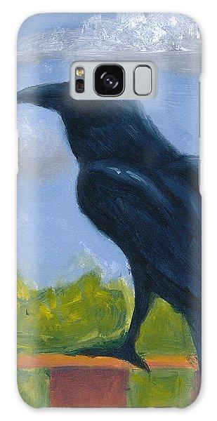Raven On A Rail Galaxy Case