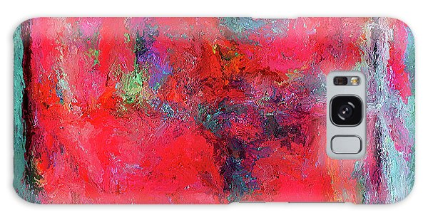 Rectangular Red Galaxy Case