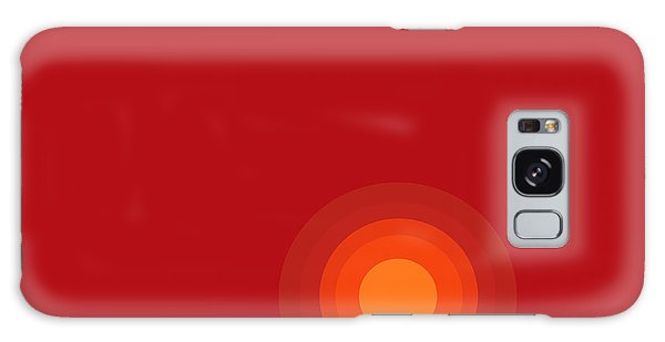 Red Abstract Sunset II Galaxy Case