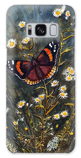 Red Admiral And Wild Aster Galaxy Case