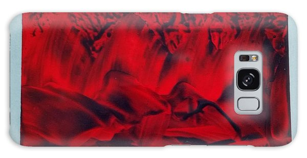 Red And Black Encaustic Abstract Galaxy Case