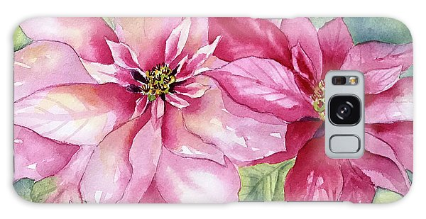 Red And Pink Poinsettias Galaxy Case