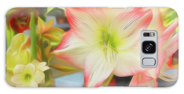Red And White Amaryllis Galaxy Case