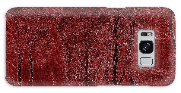 Red Aspen Grove Galaxy Case