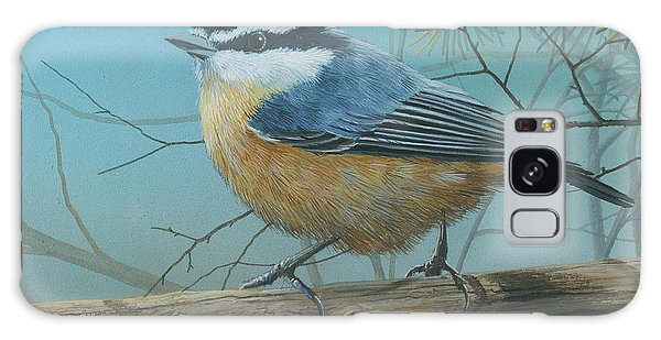 Red Brested Nuthatch Galaxy Case