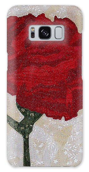 Red Carnation Galaxy Case