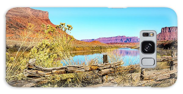 Galaxy Case featuring the photograph Red Cliffs Canyon by David Morefield