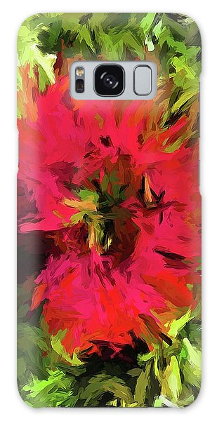 Red Flower Flames Galaxy Case